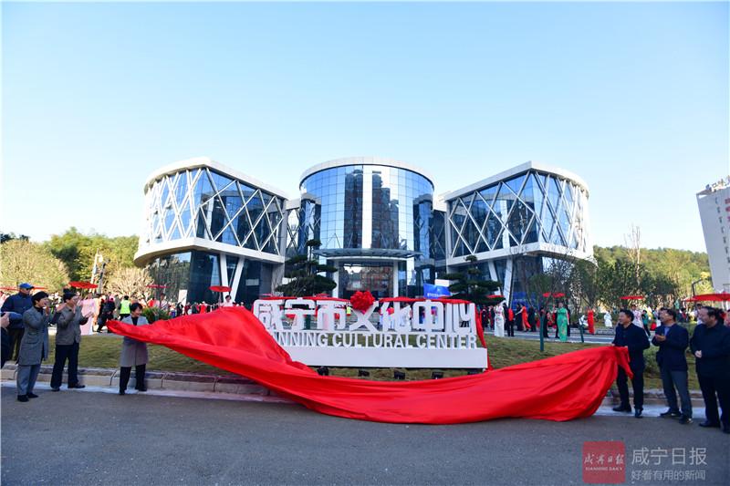 咸宁市文化中心正式揭牌  免费对广大市民开放