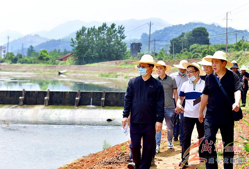 孟祥伟徒步巡查淦河实地调研生态旅游等绿色产业发展情况